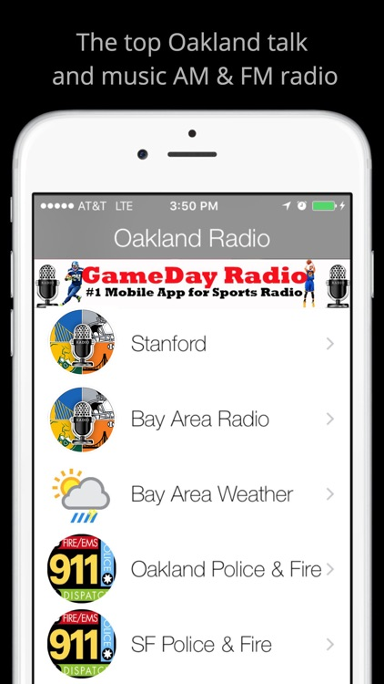 Oakland GameDay Radio - Raiders Warriors A's screenshot-2