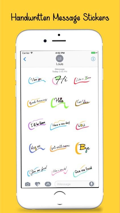 Handwritten Message Stickers Pack screenshot-4