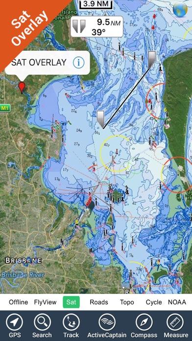 Brisbane Nautical Chart HD GPS screenshot two