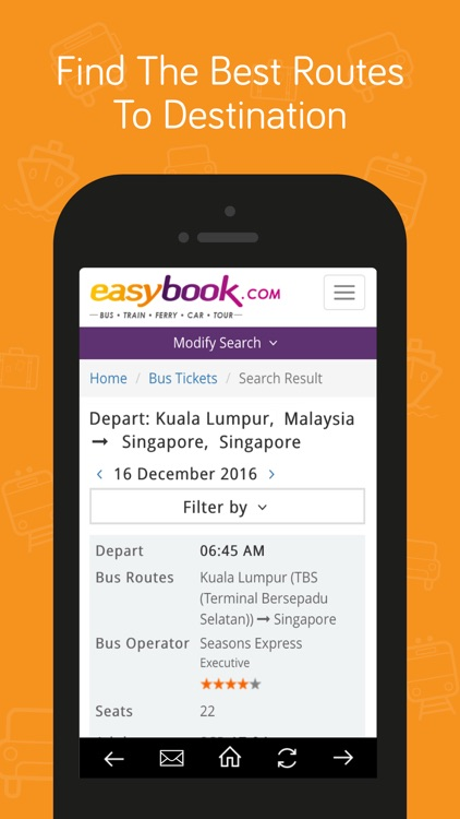 Easybook® Bus,Train,Ferry,Car