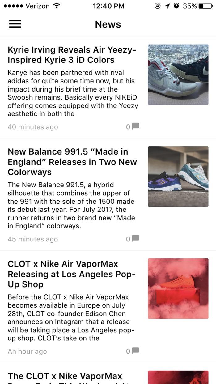 Sneakers Screenshot