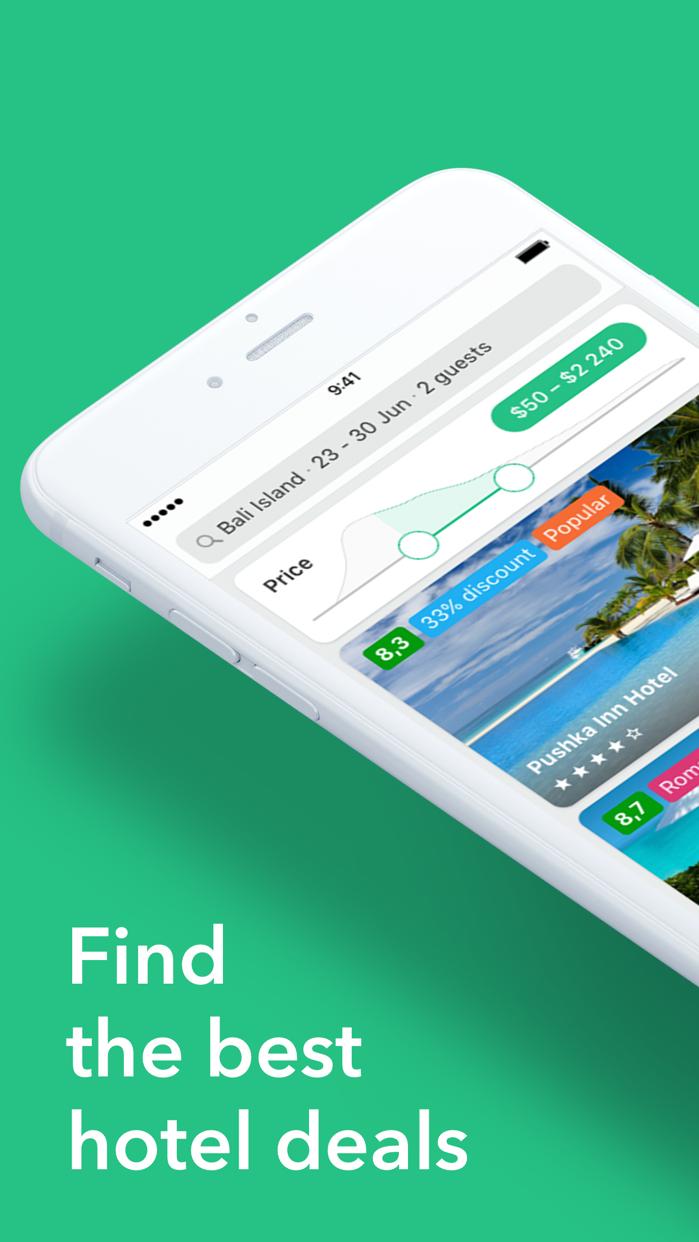 Cheap hotel deals — Hotellook Screenshot