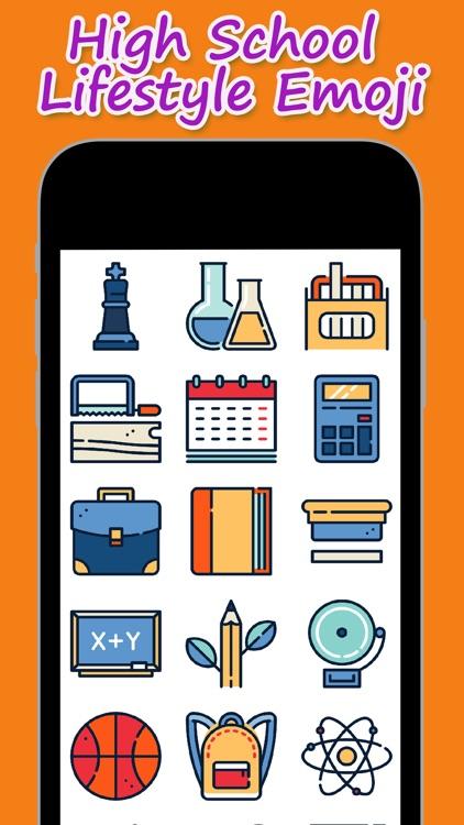 High School Lifestyle Emoji by Leong Wei Sing