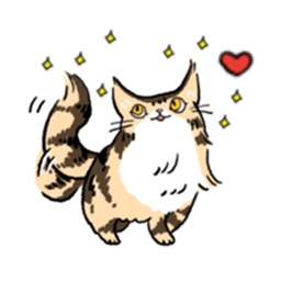 Maine Coon Cat - Mainemoji Emoji Sticker