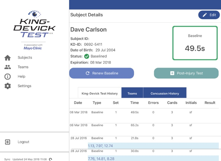 King-Devick Test w Mayo Clinic screenshot-3