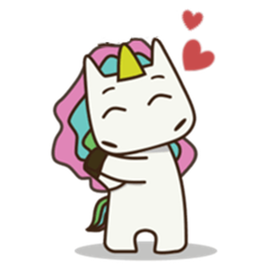 Rainbow Hair Unicorn Sticker app