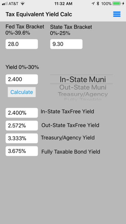 Tax Equivalent Yield Calc screenshot-0