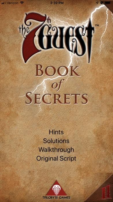 Screenshots for Book of Secrets