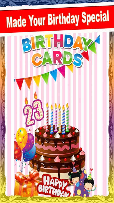 Screenshot for Birthday Greetings Card PRO in United States App Store
