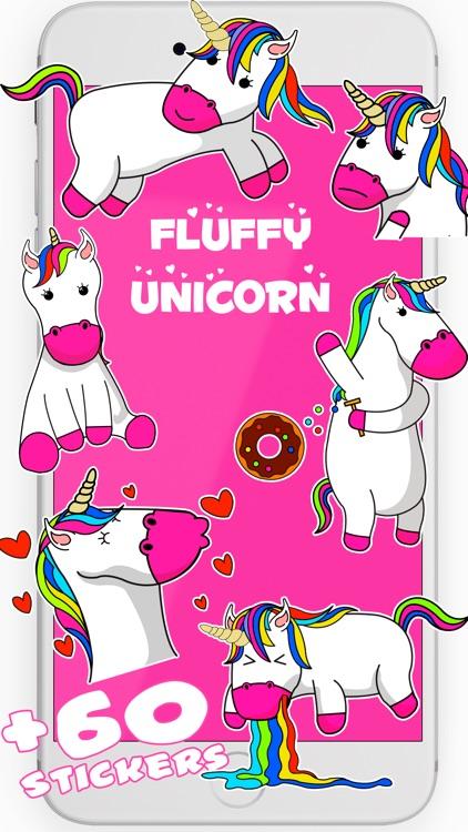 Unicorn Stickers animated Fluffy Unicorn Emojis