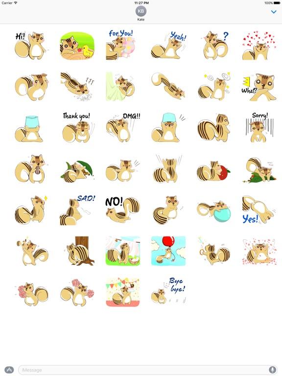 Adorable Chipmunk Sticker screenshot 4