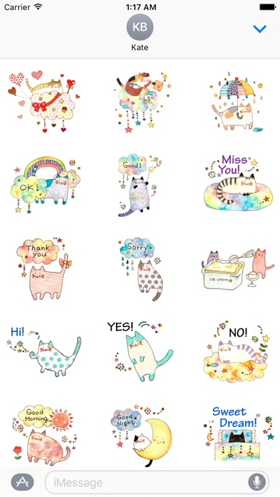 download Colorful Dreams Of Cat Sticker apps 0