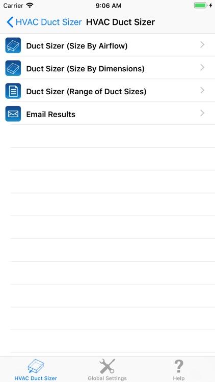 HVAC Duct Sizer screenshot-3
