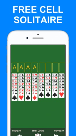 Free Cell Solitaire · screenshot for iPhone