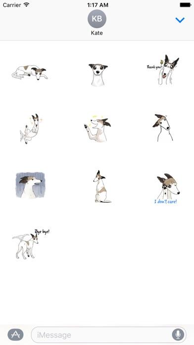 Snap Dog - Whippetmoji Sticker screenshot 3