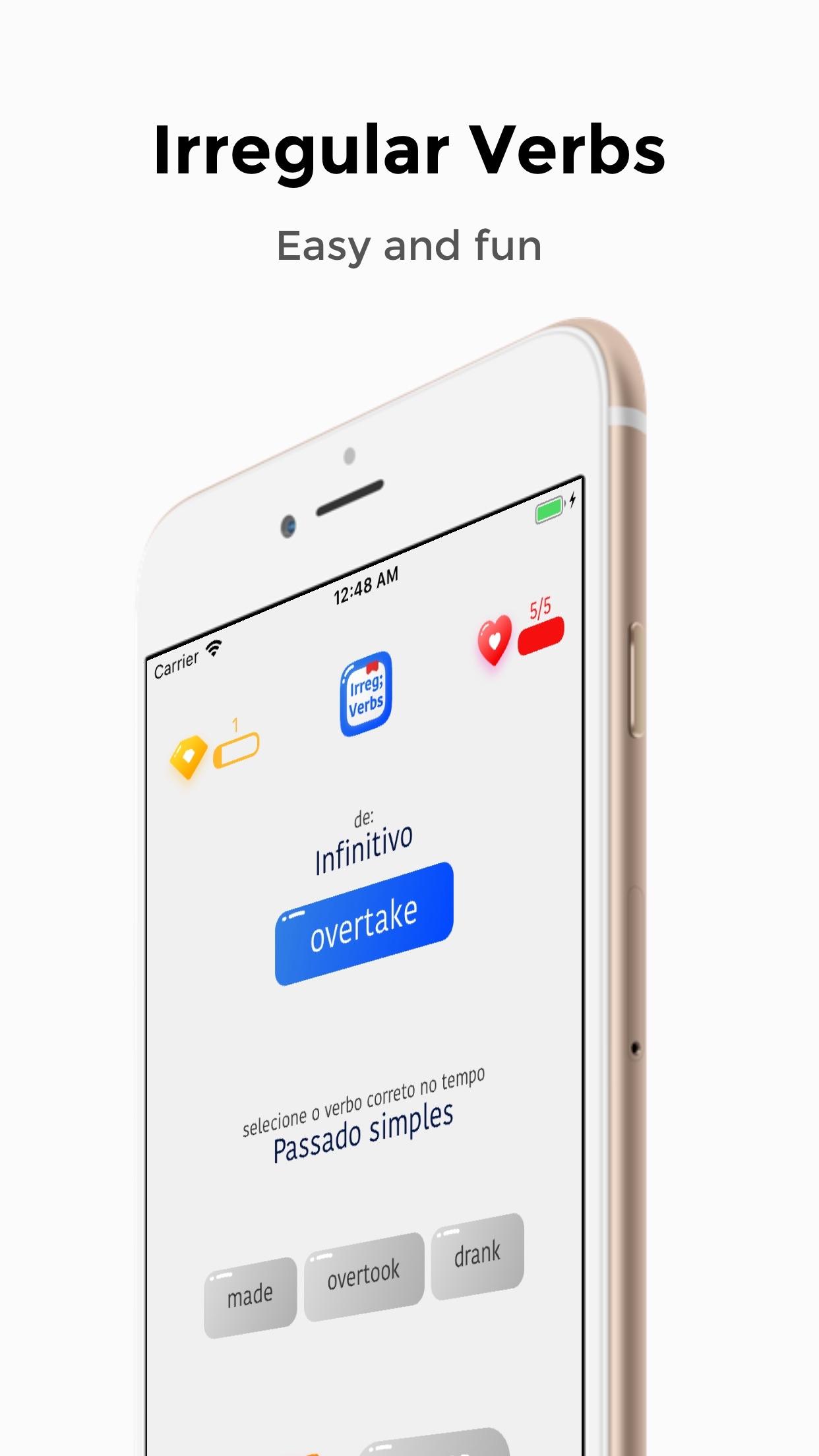 Screenshot do app Irregular Verbs - Learning it