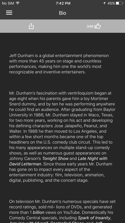 Jeff Dunham Mobile App screenshot-4