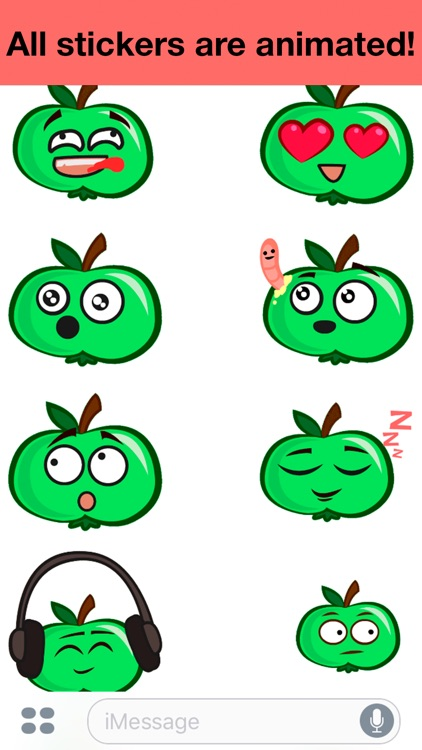Apple animated - Cute stickers screenshot-2