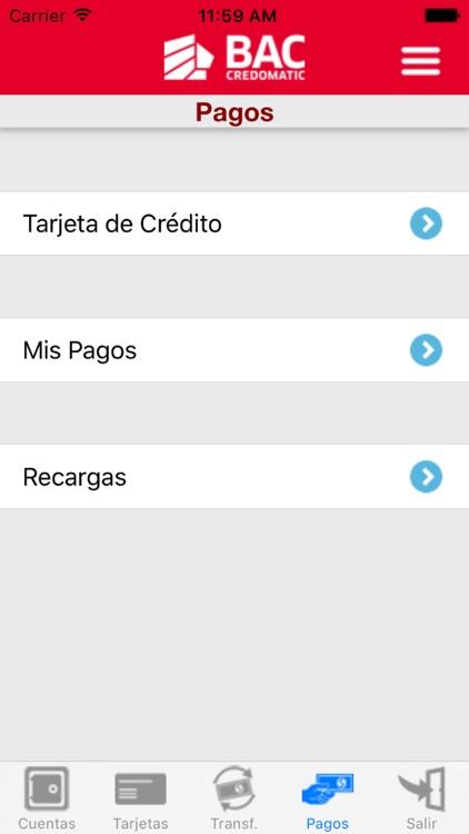 Banca Móvil BAC Credomatic screenshot-3