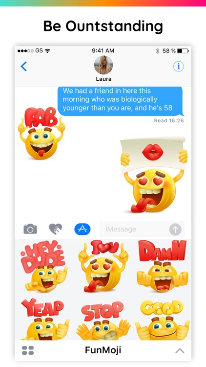FunMoji 3D Emoji Text Stickers screenshot-3