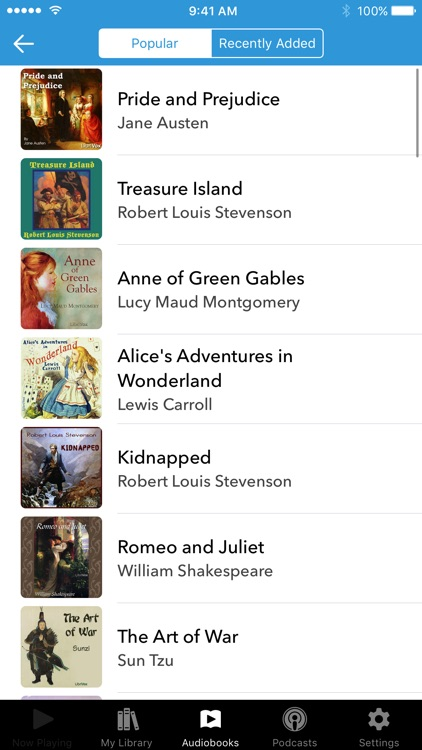 Audiobooks screenshot-0