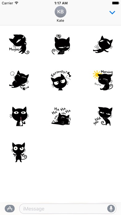 Funny Black Cat Stickers screenshot three