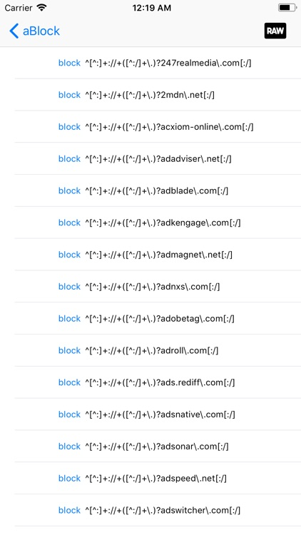 aBlock - ad blocker