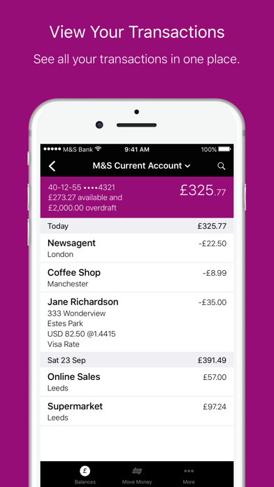 M&S Banking screenshot three