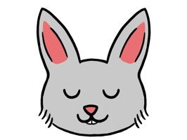 Decorate your messages with the cutest bunny around