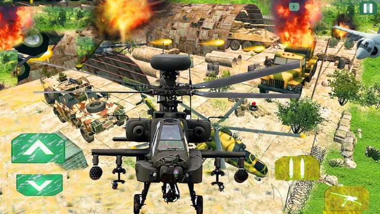 Helicopter Gunship Air Strike