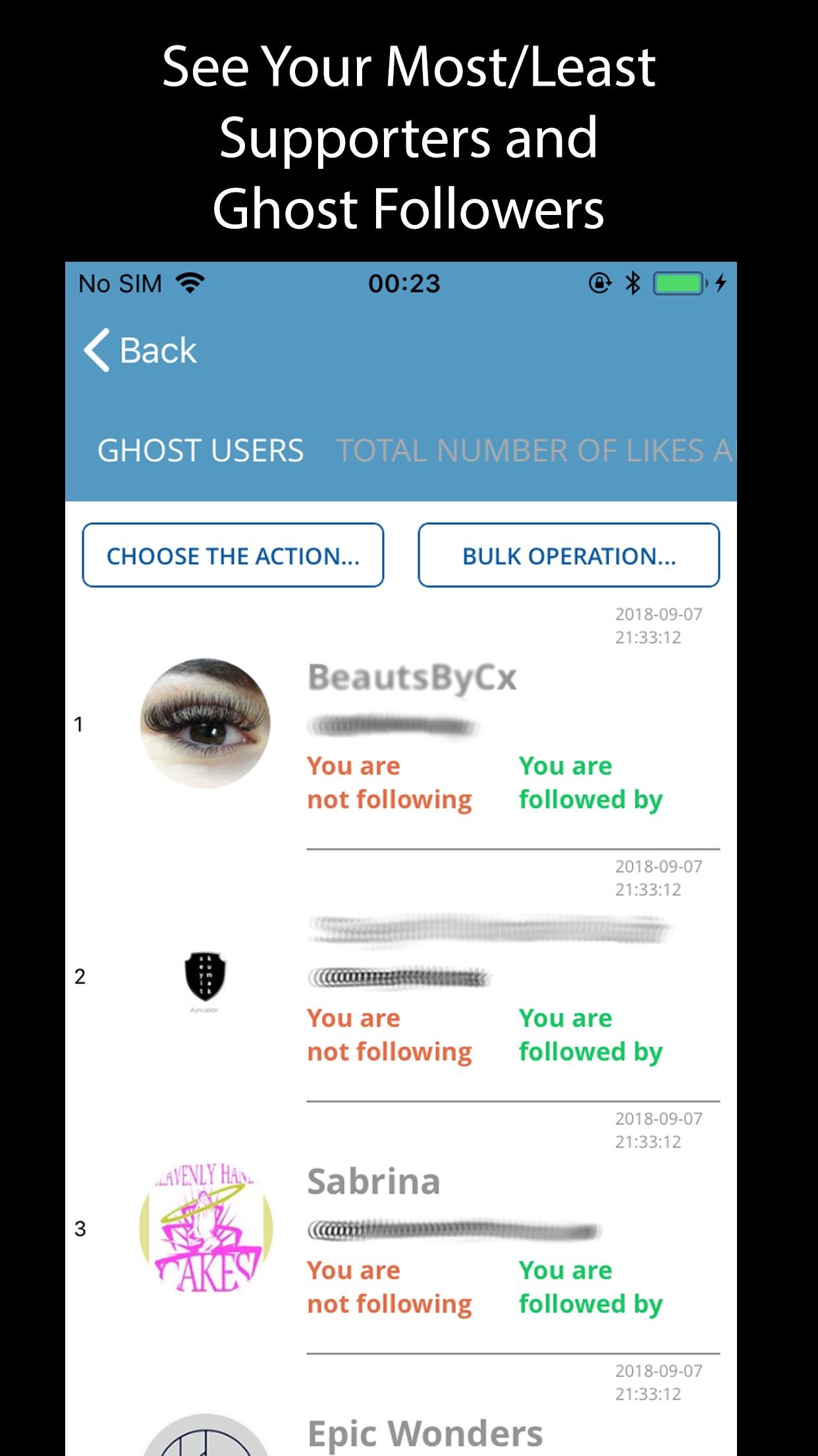 CCSoft+ Followers Analyzer Screenshot