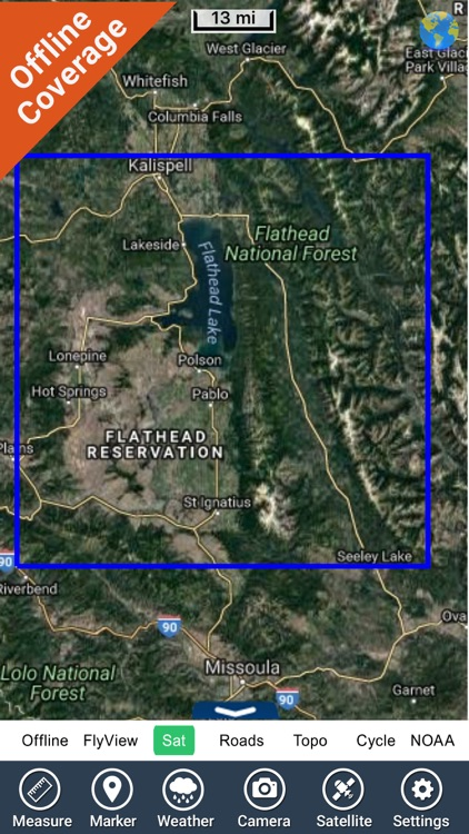 Flathead lake Montana charts HD GPS fishing maps screenshot-4