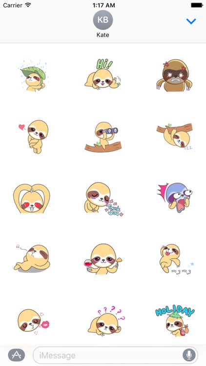 Active Sloth Sticker