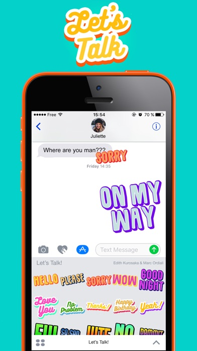 Let's Talk! - Text Stickers app image