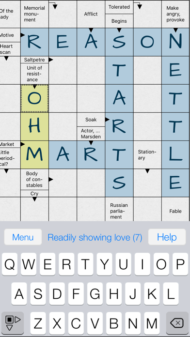 Crossword Puzzle . screenshot 1