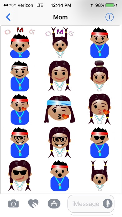 50f52f62c23 Navajo Emojis - by Gary Grass - Category - 30 Reviews - AppGrooves ...