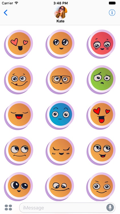 Cute Emoticons Sticker Fun!