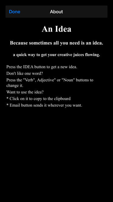 An Idea screenshot four