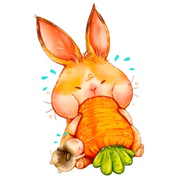 Easter Hop emoji and stickers