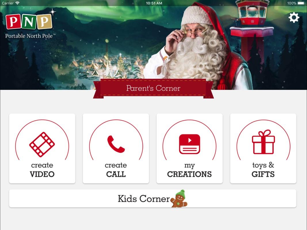 Portable north pole okidä husky plush with personalized video.