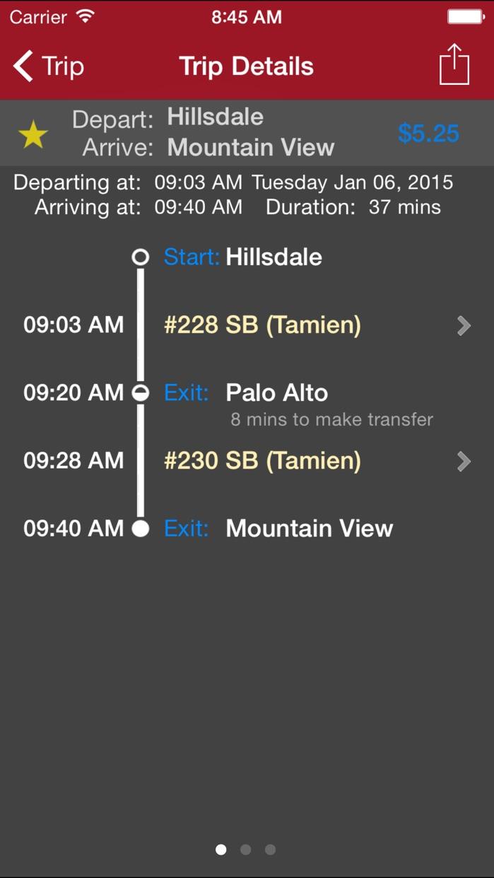 CaltrainMe Screenshot