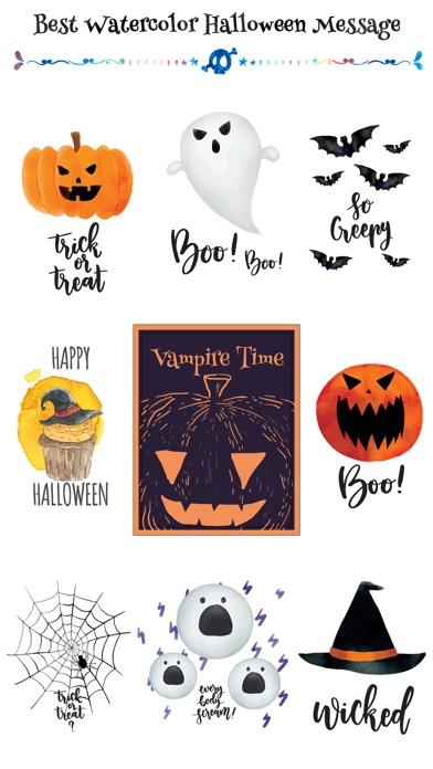 Cute Watercolor Halloween Pack screenshot 1