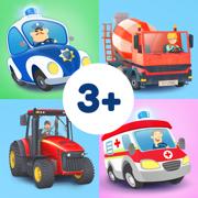 儿童冒险游戏系列:农场、建筑工地、警察局和医院