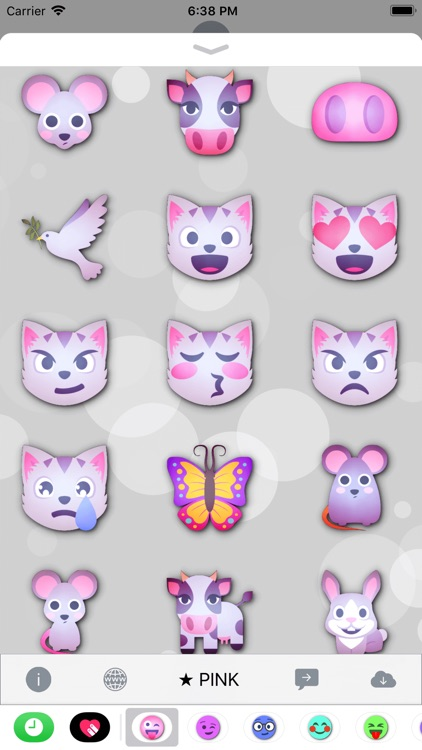 PINK Emoji • Stickers screenshot-3