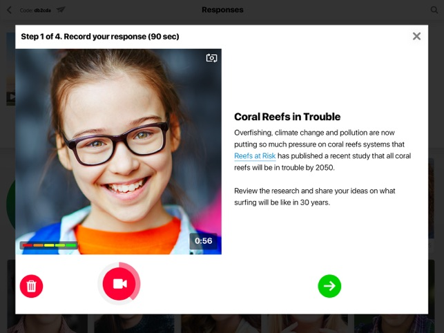 Flipgrid. Screenshot