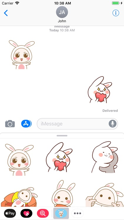 Lovely Bunny Animated Stickers