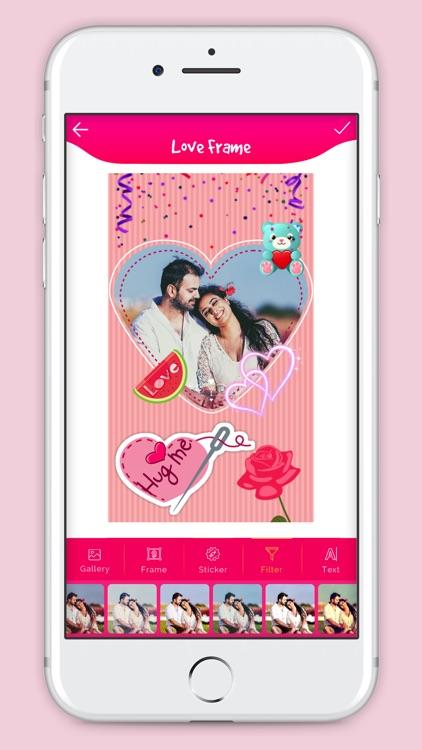 Cute Love Photo Frame screenshot-3