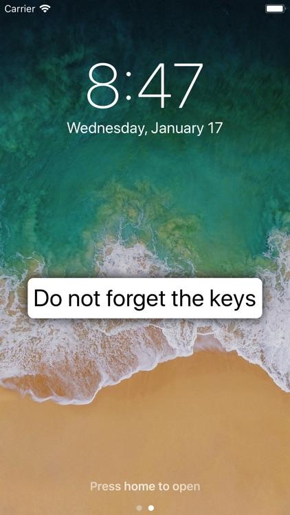 Screen Notes: for lock screen screenshot-0
