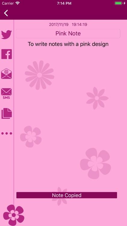 Pink Note - پينك نوت screenshot-4