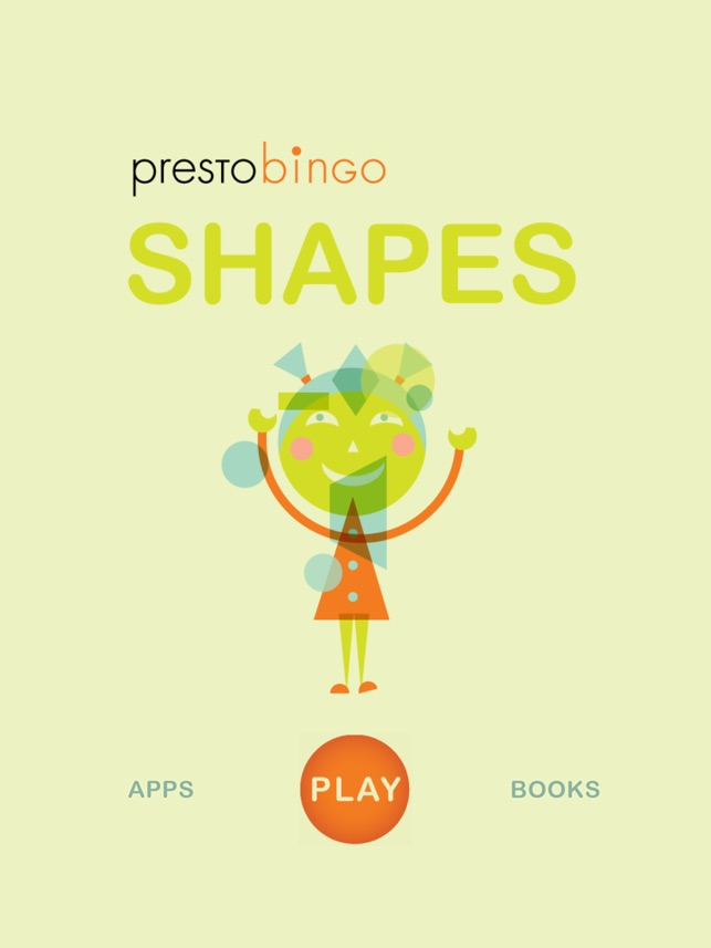 PrestoBingo Shapes Screenshot